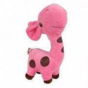 Aspiredeal Cute Giraffe Soft Plush Toy Kids Stuffed Animal Gift - Fuchsia