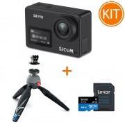 Kit SJCAM SJ8 PRO cu Minitrepied si Card microSD 64GB
