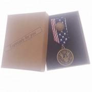 Commemorative Souvenir Badge Army Anniversary Bald Eagle Round Copper American Flag