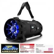Auna Soundstorm Ghettoblaster, Bluetooth, NFC, USB, baterie, negru/portocaliu (CS8-SOUNDSTORM-BB)