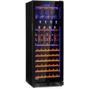 Klarstein First Class 84, frigider pentru vin, 4 distribuitoare, 84 sticle, 5-22 ° C, negru (HEA18 - H120S-F1)