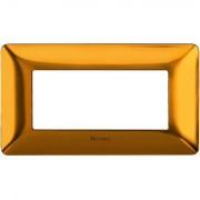 Rama ornament 4M auriu satinat Matix Bticino AM4804GOS