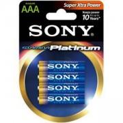 Батерия Sony, Алкална, R03, Stamina Platinum, 4 бр., AAA, AM4PT-B4D