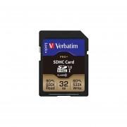 Verbatim 32GB ProPlus 600X SDHC Memory Card, UHS-1 U3 Class 10, 49196