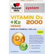 Queisser Pharma GmbH & Co. KG DOPPELHERZ Vitamin D3 2000+K2 system Tabletten 120 St