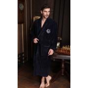 Five Wien Классический мужской халат из бамбукового волокна темно-синего цвета Five Wien FW1380 Синий
