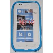 Силиконов гръб ТПУ за Nokia Lumia 710 Син
