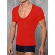 Doreanse Мужская красная футболка с широким воротником Doreanse Macho Style 2820c06