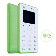 AIEK X6 Green Color GSM Card Mobile Phone Ultra Thin Pocket Mini Phone