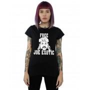 Absolute Cult Joe Exotic Women's Free Joe Exotic Cartoon T-Shirt Noir Small