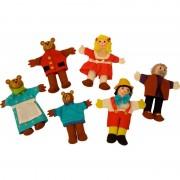 Papusi degetar Pinochio si Povestea Cei trei ursuleti