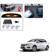 Auto Addict Car Silver Reverse Parking Sensor With LED Display For Honda New City 2017