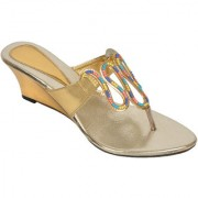 Altek Stylish Shine Women Wedge Heel (foot-s1319-gold-p200)