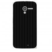 Case Motorola Moto X - Lineas Negro con Gris