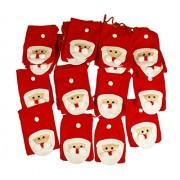 HAAC Felt Christmas Advent Garland with 24 Santa Sack Calendar