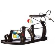 Steve Madden Women's Cailin Gladiator Sandal, Black/Multi, 8 M US