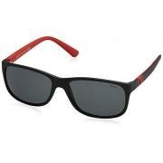Ralph Lauren Polo Ralph Lauren PH4109 anteojos de sol redondas para hombre, negro, gris (Matte Black/Grey), 59 mm