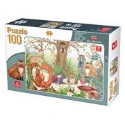 Puzzle Animale de Padure, 100 piese