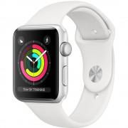 Resigilat: Apple Watch Series 3 Smartwatch GPS 42mm Silver Aluminium Case White Sport Band - RSF127557-1