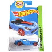 HOT WHEELS 2014 RELEASE BLUE 2013 SRT VIPER FROM THE WORKSHOP SERIES DIE-CAST, HOT WHEELS DODGE VIPE
