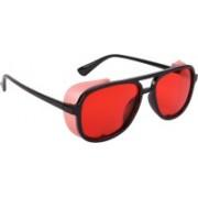 NuVew Wayfarer, Shield Sunglasses(Black, Red)