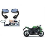 Kunjzone Premium Quality Motorycle Bar End Mirror Rear View Mirror Oval for Kawasaki Ninja 1000