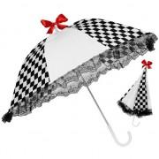 Geen Zwart wit geblokte paraplu