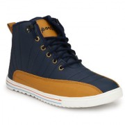 NYN Men's Navy Blue Synthetic Casual Boots