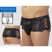 Svenjoyment Side Lace Cheeky Back Wonder Boxer Brief Underwear Black 2130734