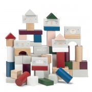 Cuburi colorate de construit - 60 piese - Micki