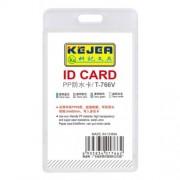 Suport PP water proof, pentru carduri, 55 x 85mm, vertical, 5 buc/set, KEJEA - transparent