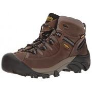 KEEN Men's Targhee II Mid Wide Hiking Shoe, Shiitake/Brindle, 13 W US
