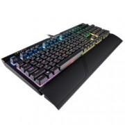 Клавиатура Corsair Gaming™ STRAFE RGB MK.2, гейминг, RGB, Cherry MX Silent, черна, USB