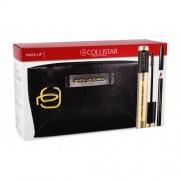 Collistar Volume Unico подаръчен комплект спирала 13 ml + молив за очи 1 g Black + козметична чантичка Piquadro за жени Intense Black
