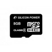 Silicon Power MicroSDHC 8GB Class4 memóriakártya