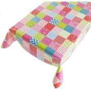 Geen Tafelkleed PVC kleuren patchwork140 x 240 cm