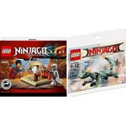Ninjago The Movie Lego Green Ninja Mech Dragon 30428-1 + Cru Masters' Training Grounds - 30425 Polybag Edition Exclusive Building 2 Pack Set