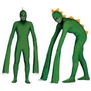 Merkloos Reptielen monster kostuum voor mannen