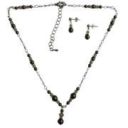 Customize Bridal Jewelry Swarovski Brown Pearls Lite Colorado Crystals