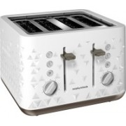 Morphy Richards Prism 4 slice Toaster 2200 W Pop Up Toaster(White)