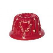poterie Siegfried Burger Soufflenheim Kougelhopf coeur rouge 3 tailles disponibles