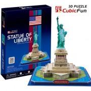 Puzzle 3D Cubicfun Statuia Libertatii (U.S.A), 39 piese