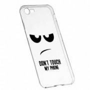 Husa Silicon Transparent Slim Dont Touch My Phone Apple iPhone 6 6S
