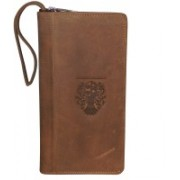 Kan Valentine Day Special Gift-Premium Quality Leather Mobile Holder/Business Card Holder/Passport Organizer for Men & Women(Tan)