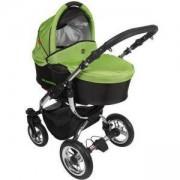 Комбинирана бебешка количка TUTEK Grander Black and Green (GC3), 133358066