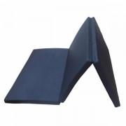 Saltea gimnastica pliabila in 3 segmente, 200x60x5 cm, bleumarin