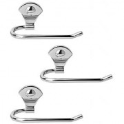 Doyours Stainless Steel Glossy Towel Holder - Set of 3