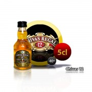 Botella miniatura whisky Chivas Regal 12 años