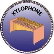 Xylophone Award, 1 inch dia Silver Pin 'Musical Instrument Masteries Collection' by Keepsake Awards
