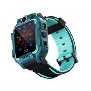 Q19 Kids Smart Watch 4G GPS Position Kids Dual Camera Security Bracelet Waterproof Kids Watch - Green//Asia-Pacific Version